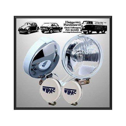 Fiat 124 126 127 135 500 600 850 Classic Wipac Chrome Fog Lamps