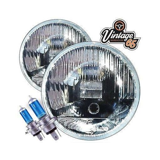 Ford Escort Mk1 Wipac Quadoptic Pair Xenon Halogen Headlight Conversion + Pilot
