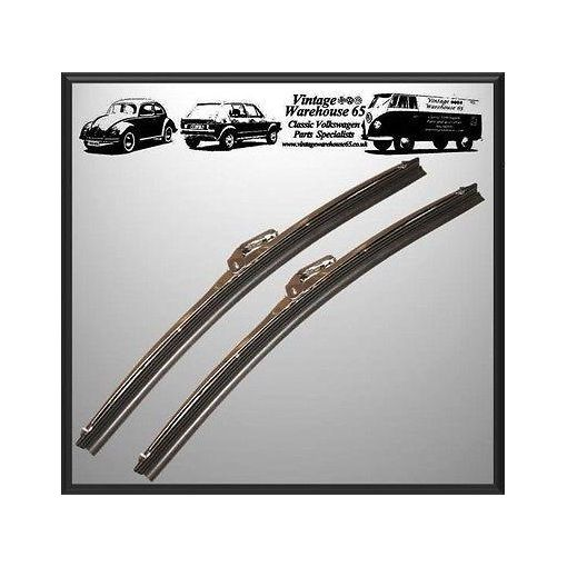 "Morris Ital 1100 1300 Marina 12"" Stainless Steel Wiper Blades Pair 7mm Fitment"