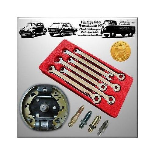 Vauxhall 6 Piece Master Brake Cylinder Drum Brake Service Bleed Spanner Set