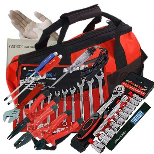 Apprentice Mechanics Starter Hand Tool Kit Set With Case For Car Van Bike Repair